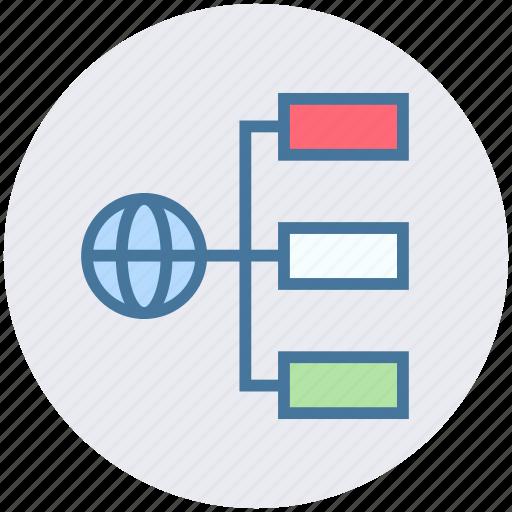 connection, globe, internet, network sharing, world icon