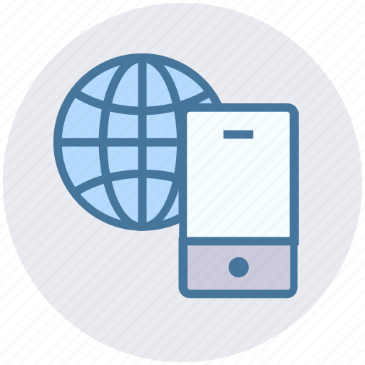browser, earth, internet, mobile, phone, world icon