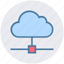 cloud, connection, data, data science, network, sharing icon