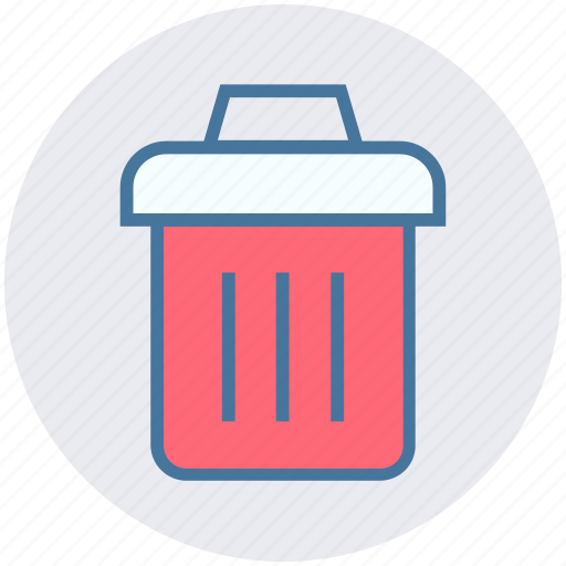 bin, clean, dust, garbage container, recycle bin, trash, waste icon