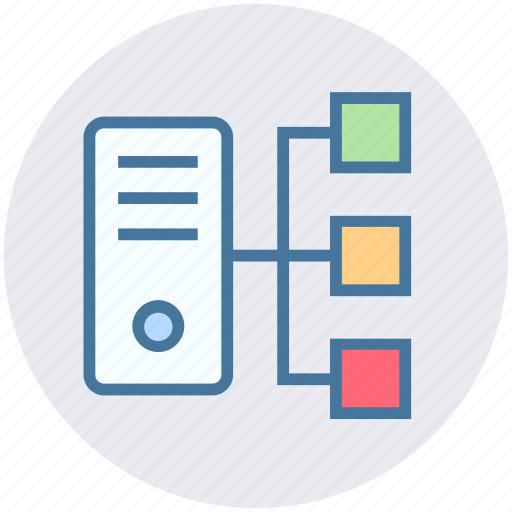 connection, cpu, cpu tower, data science, sharing icon