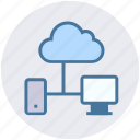cloud, connection, cpu, data science, lcd, sharing icon
