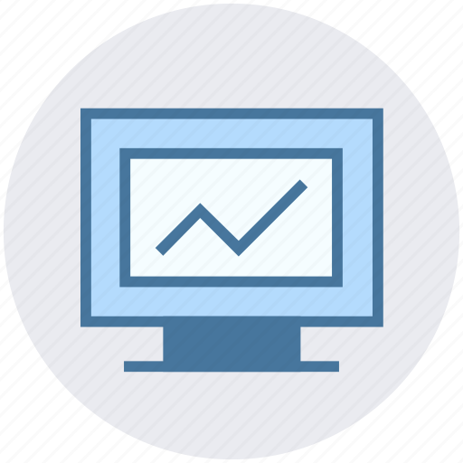 chart, data science, graph, lcd, pie chart, screen icon