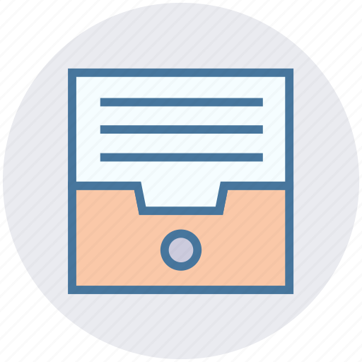 Archive, data, document, drawer, file, paper box, storage icon - Download on Iconfinder
