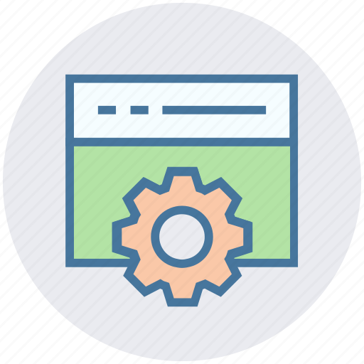 gear, options, page, setting, web page, website icon