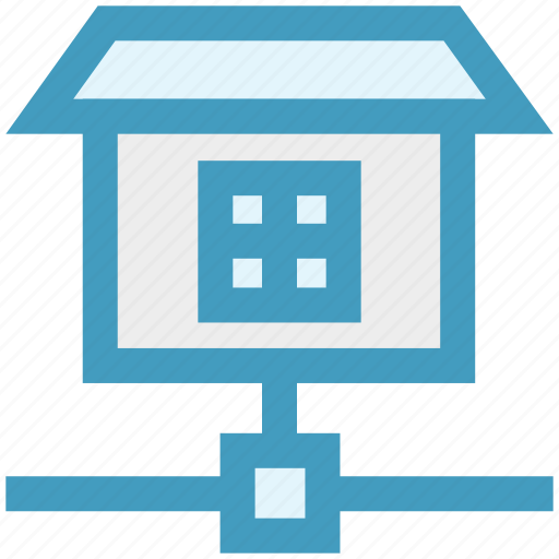connection, house, network, sharing, wifi home icon