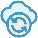 arrows, cloud, data science, reload, sync, update icon