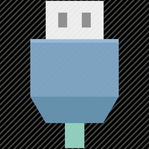 cable connector, usb cable, usb connector, usb cord, usb wire icon