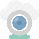 cloud computer camera, cloud video chatting, cloud video conference, cloud webcam, cloudweb camera icon