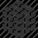 3d cube, cubic, graphic, puzzle cube, rubik's cube icon