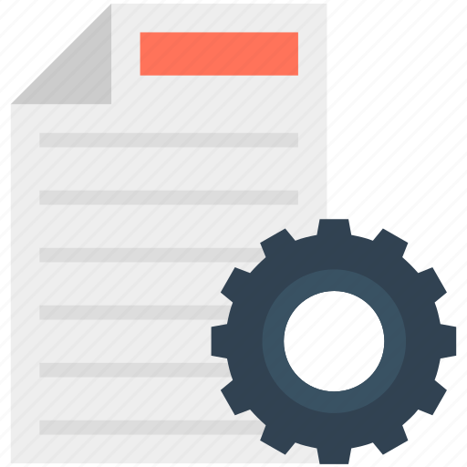 File, file preferences, file setting, gear, processing file icon - Download on Iconfinder
