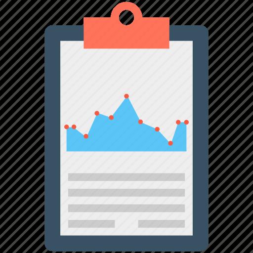 analytics, clipboard, graph, graph report, stock report icon