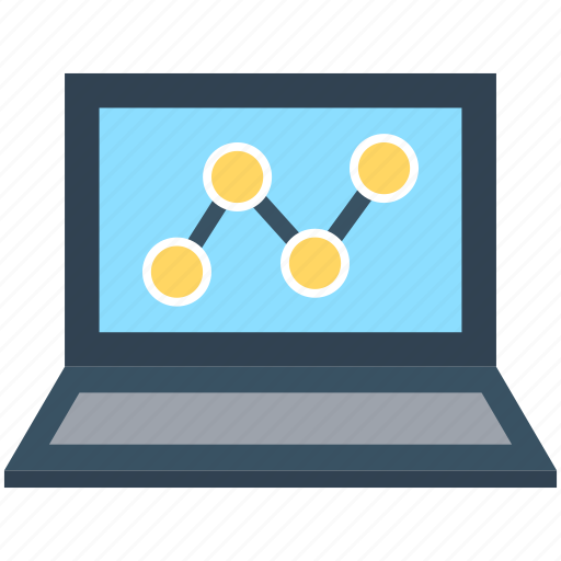 Business graph, laptop, line graph, seo graph, statistics icon - Download on Iconfinder