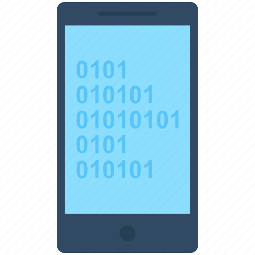 Binary analysis, binary processed, mobile analysis, smartphone, technology icon - Download on Iconfinder