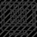 binary analysis, binary code, binary processed, monitor, technology icon