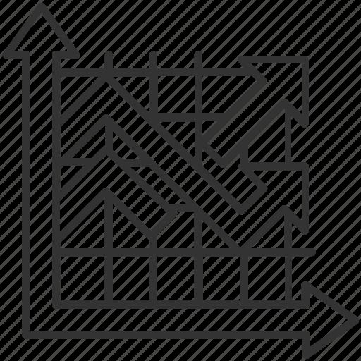 analysis, analytics, graph, infographic, line graph icon