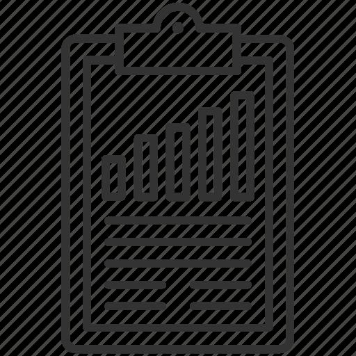 business report, clipboard, graph report, report, statistics icon