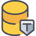 data, database, secure, security icon