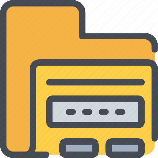 data, file, folder, password, secure, security icon