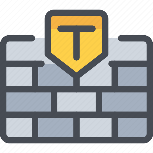 data, protection, secure, security, wall icon