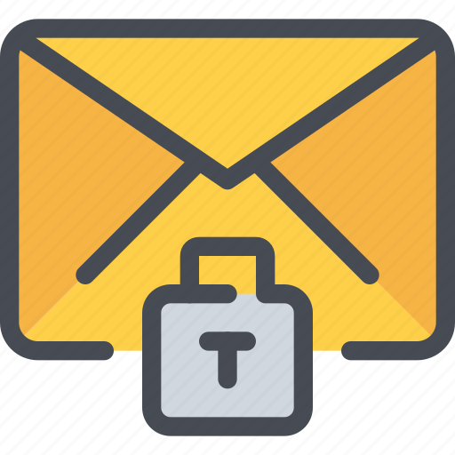 data, email, letter, mail, padlock, secure, security icon