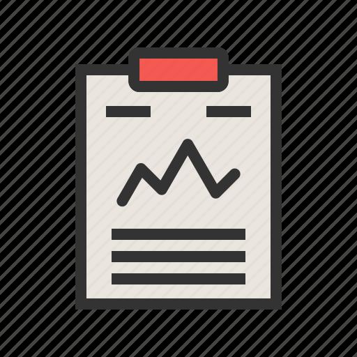 Statistics, business, analysis, percentage, document, data icon