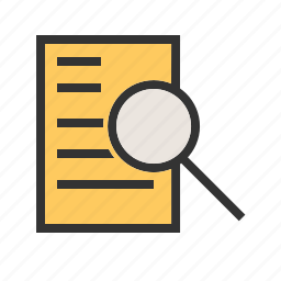 business, computer, document, financial, finding, research icon