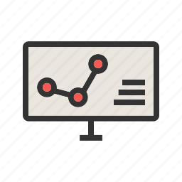 analysis, analytics, business, computer, data, statistics, technology icon