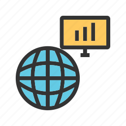 business, computer, global, network, server, technology icon