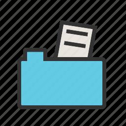 business, computer, data, file, files, folder, laptop icon