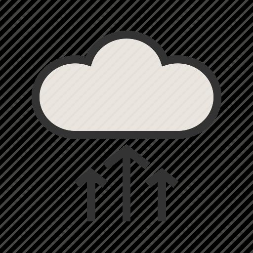 backup, cloud, computing, network, storage, upload icon
