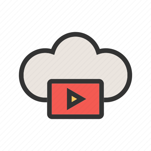 Cloud, media, phone, screen, technology, video icon - Download on Iconfinder