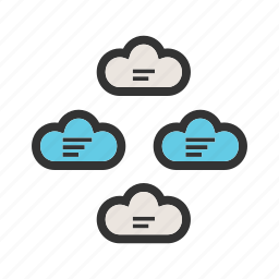 business, cloud, computing, group, server, technology, web icon