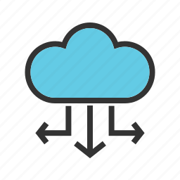 business, cloud, computing, connection, network, server, technology icon
