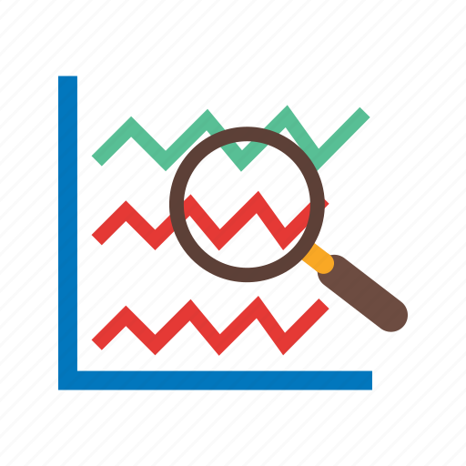 analyze, bar, business, chart, computer, search, stats icon