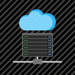 cloud, communication, data, hosting, server, technology, web icon