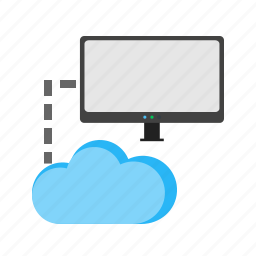 center, cloud, connected, data, internet, network, technology icon