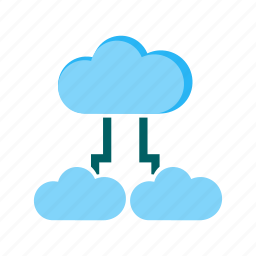 cloud, connection, data, mobile, security, sharing icon