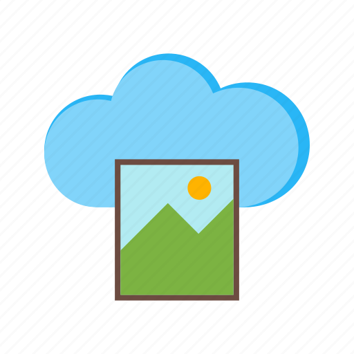 Cloud, image, media, phone, screen, technology icon - Download on Iconfinder