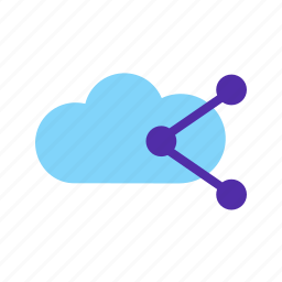 cloud, computer, information, network, sharing, technology icon