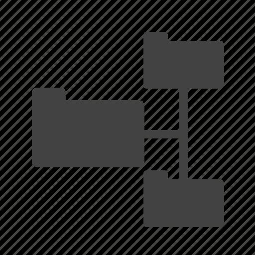 computer, data, file, folders, organize, share, sharing icon