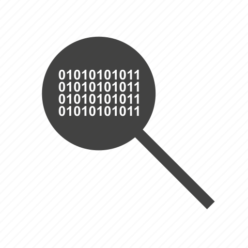 Barcode, binary, code, glass, magnifying, search icon - Download on Iconfinder