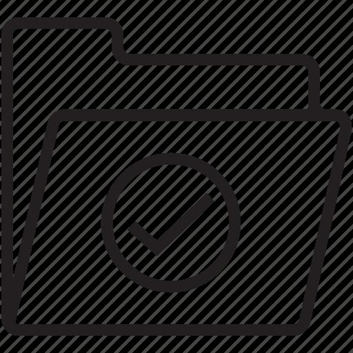 checkmark, data folder, data storage, file storage, folder icon