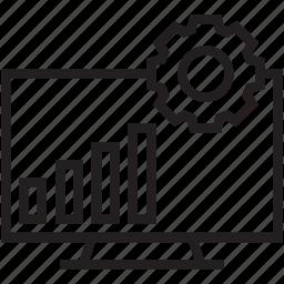 bar chart, bar graph, graph, monitor, statistics icon
