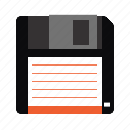 data, data storage, disk, floppy, floppy disk, history, old school icon