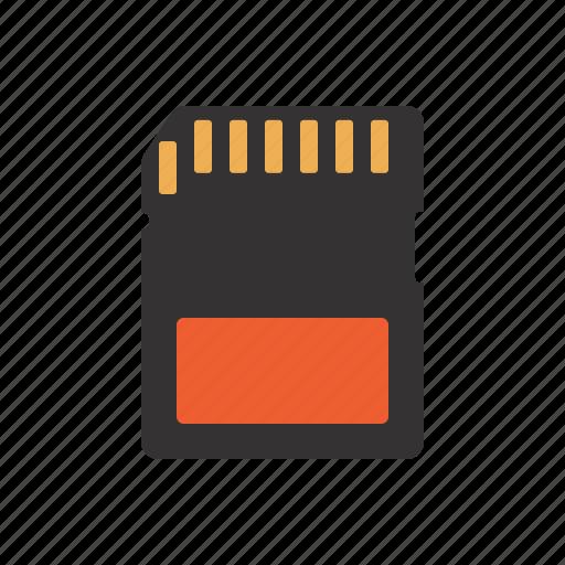 computer, data, data storage, pc, sd, sd card icon