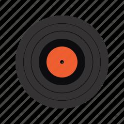 data storage, lp, music, old school, vinil icon