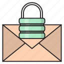 email, inbox, lock, private, security icon