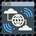 multimedia, communications, internet, world icon