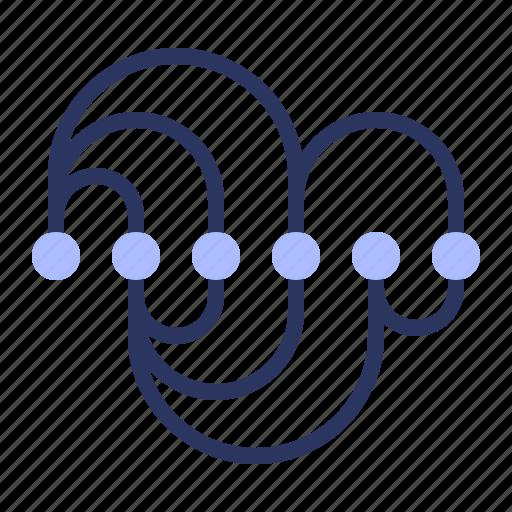 arch, connection, correlation, data, diagram icon